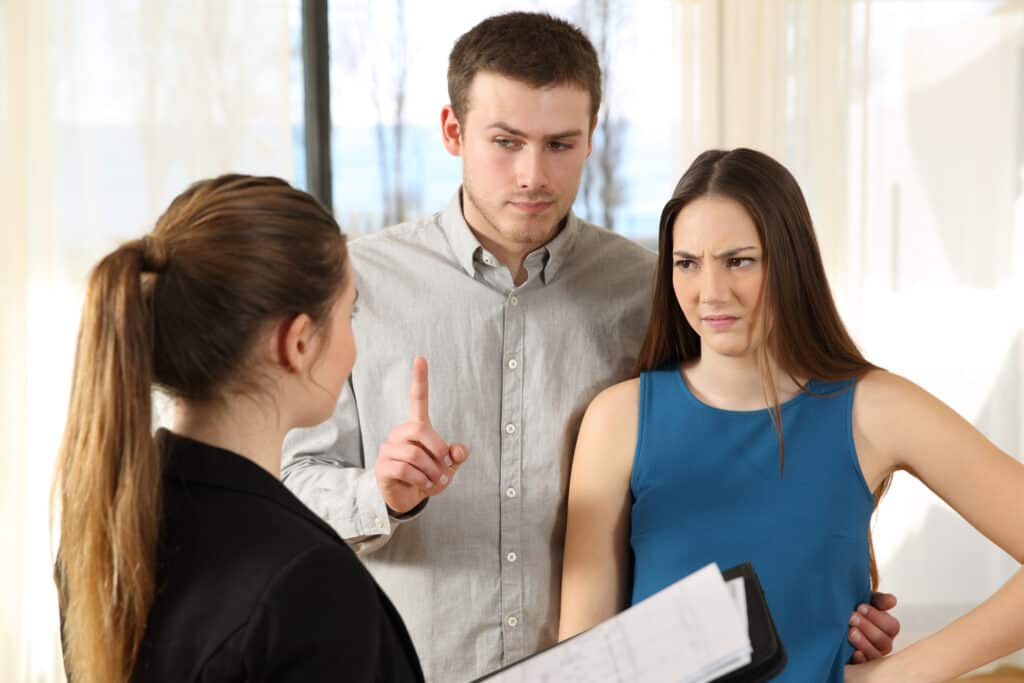 real estate agent dealing with difficult clients
