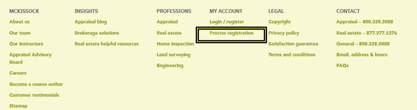 Proctor Registration