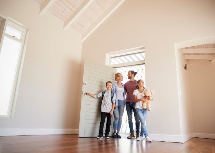 Family opens door to new and empty house