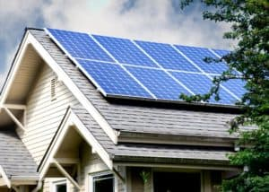 solar panels on roof green technology