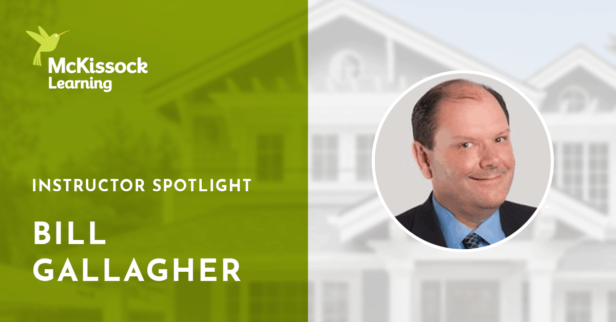 Bill Gallagher Real Estate Instructor Spotlight