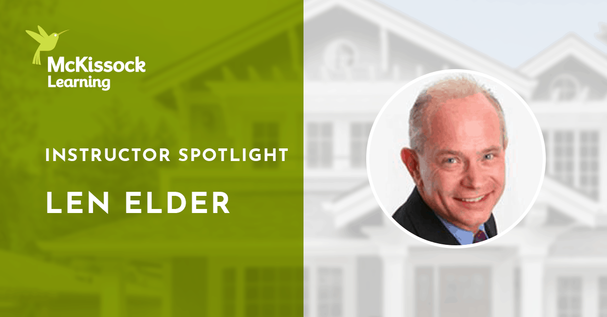 Len Elder real estate instructor