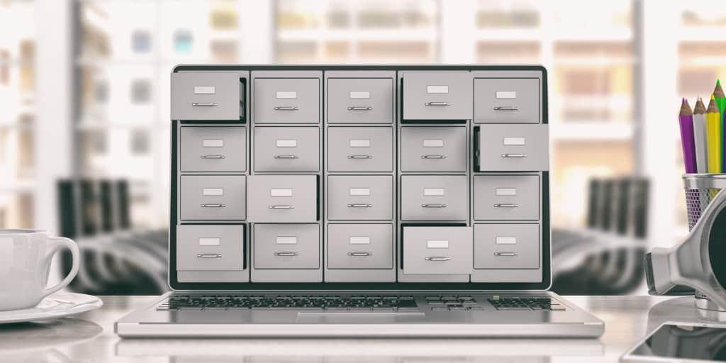 laptop data storage filing cabinet