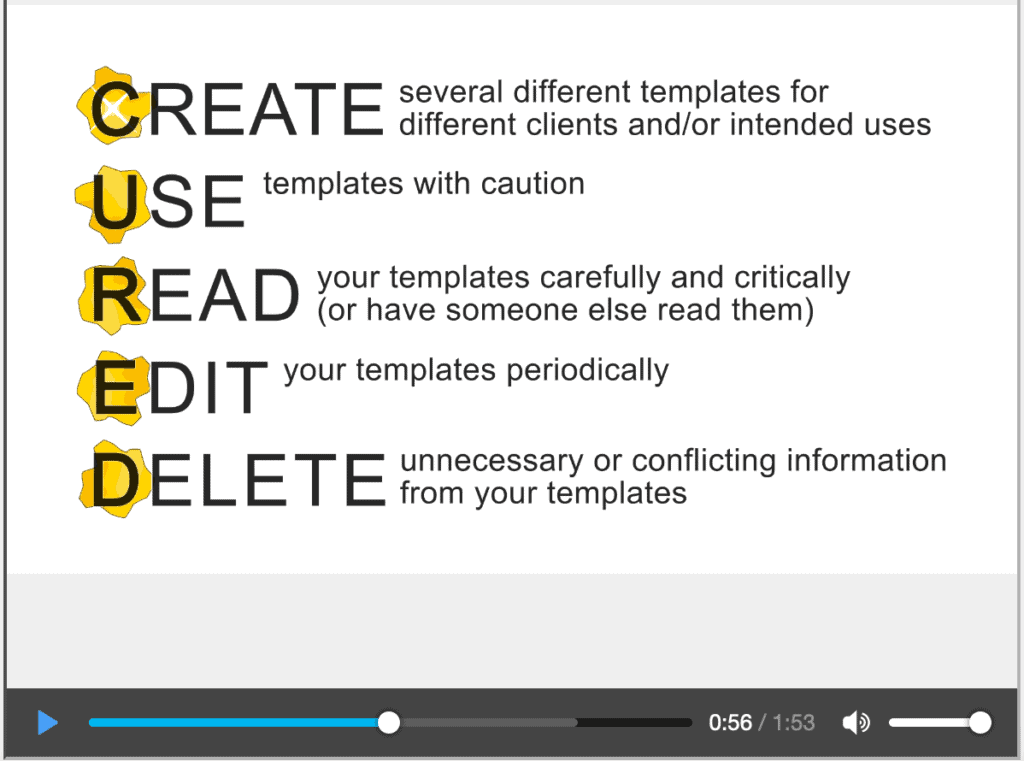 Video: The Golden Rules of a Report Template