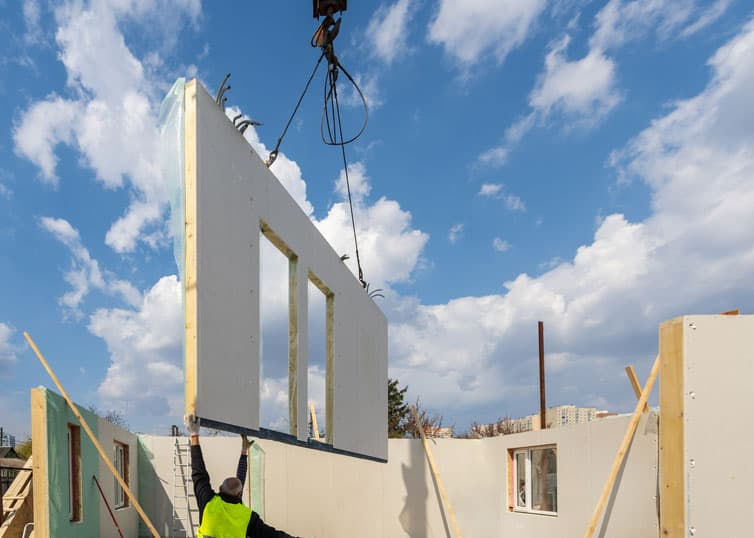 Construction of new and modular prefabricated home