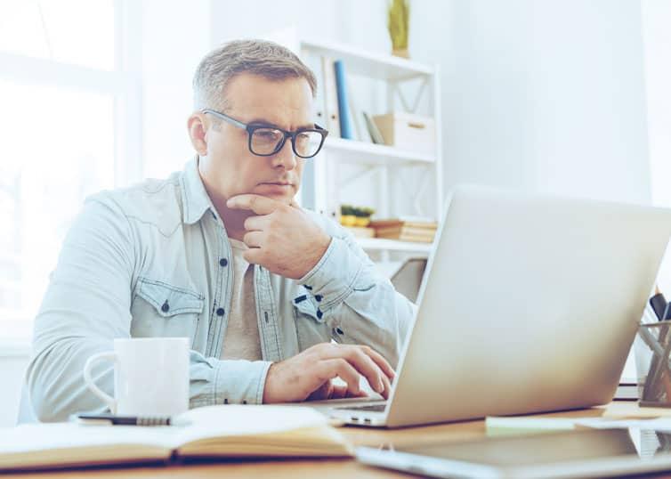Real estate appraiser writing a narrative appraisal report