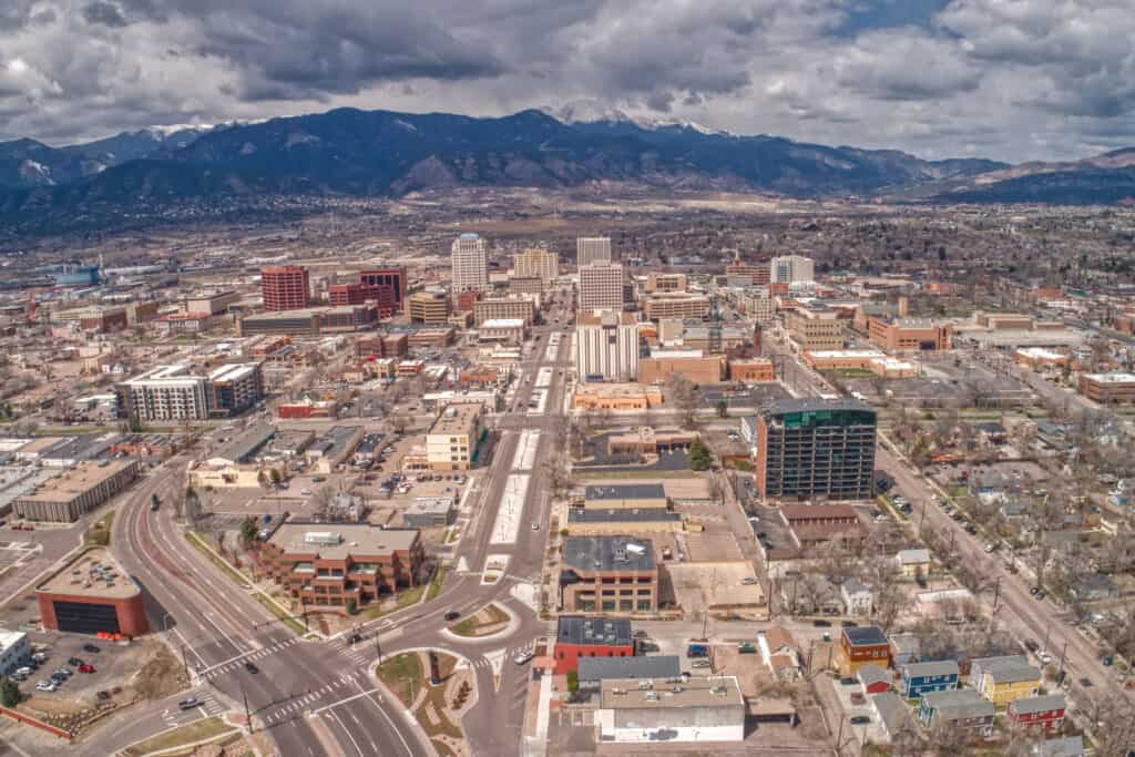 Colorado Springs from above