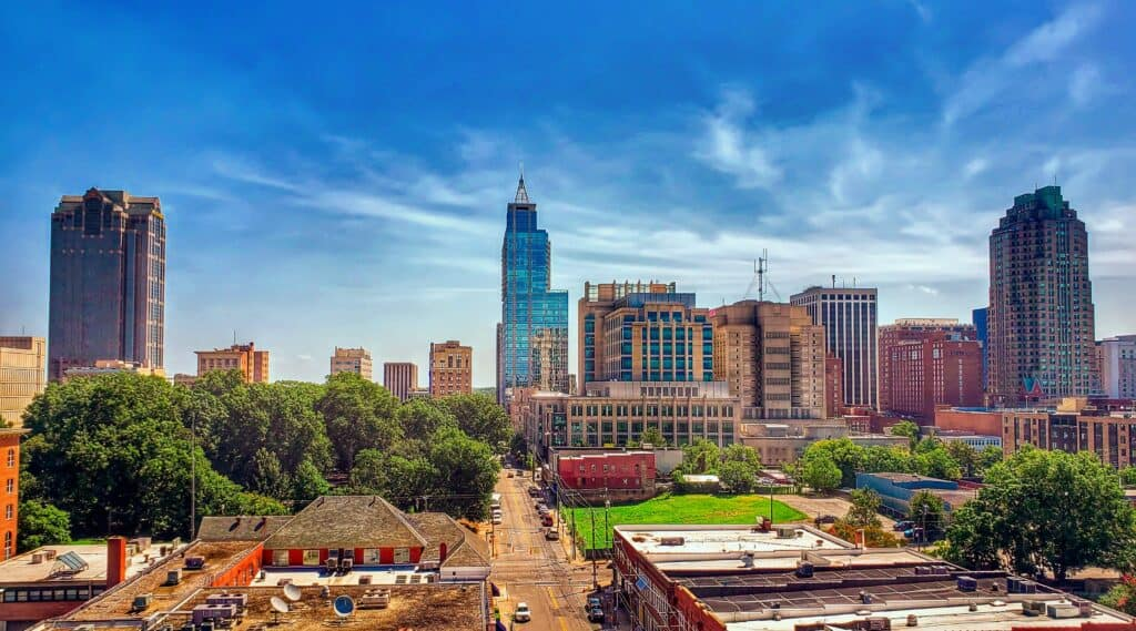 Raleigh North Carolina Skyline on High Definition